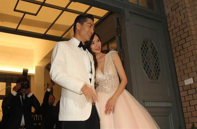 林志玲去年在台南举行盛大婚礼。(本报系资料照)