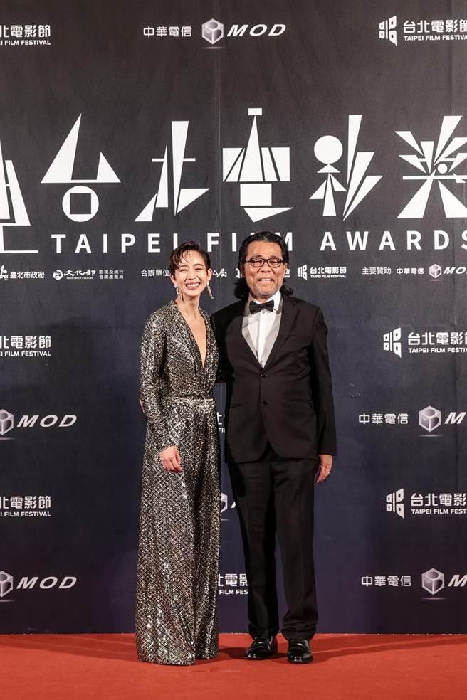 张钧宁与台北电影节主席李屏宾。(台北电影节提供)