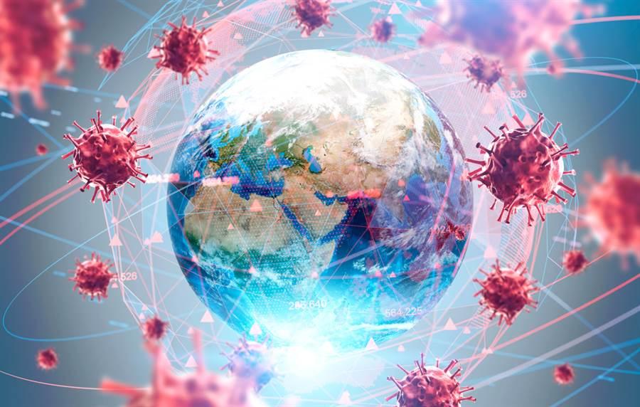 全球新冠肺炎疫情持續惡化,據世界衛生組織統計,10日新增確診病例高達228,102人,再創新高。(示意圖/達志影像)