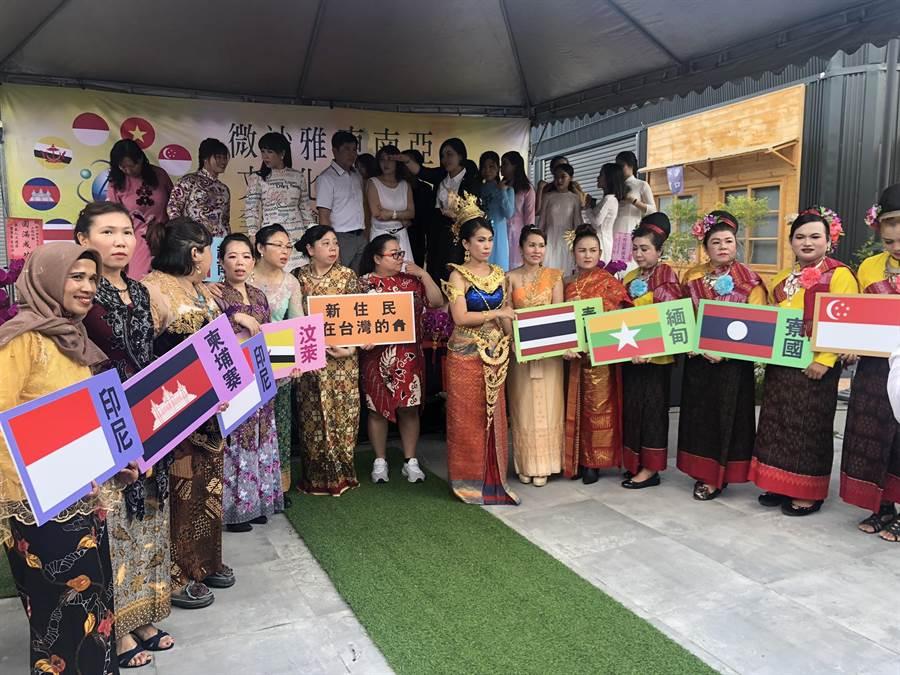微沙雅東南亞文化商圈號稱包含來自東協10國的各種吃喝玩樂商店。(程炳璋攝)