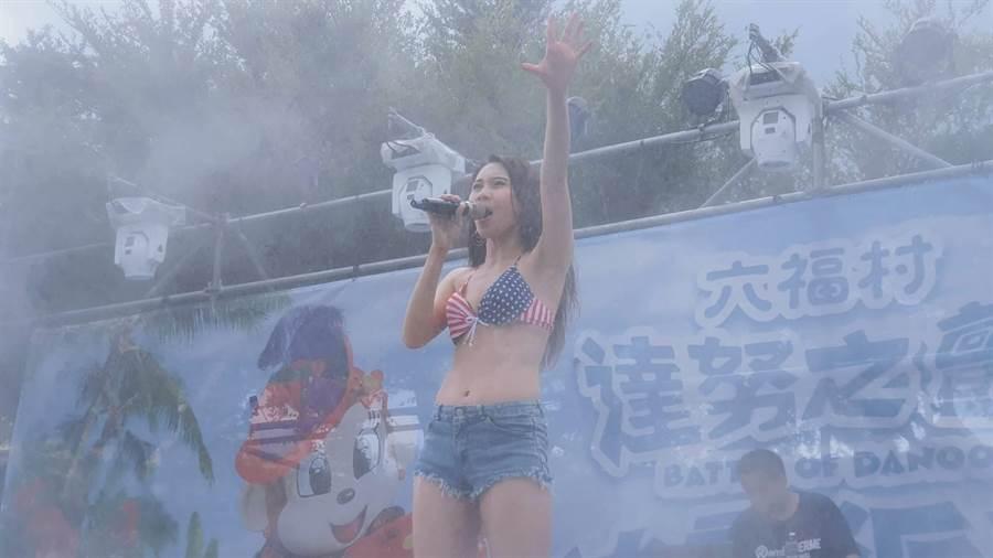 六福村主題遊樂園冰霧派對,引進大型冰槍、超音波迷霧、雪花噴射機,清涼消暑。(六福村提供/莊旻靜新竹傳真)