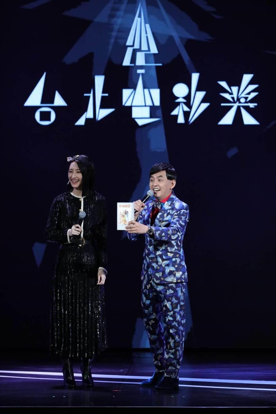 黄子佼携手柯佳嬿联手主持台北电影节颁奖典礼。(台北电影节提供)