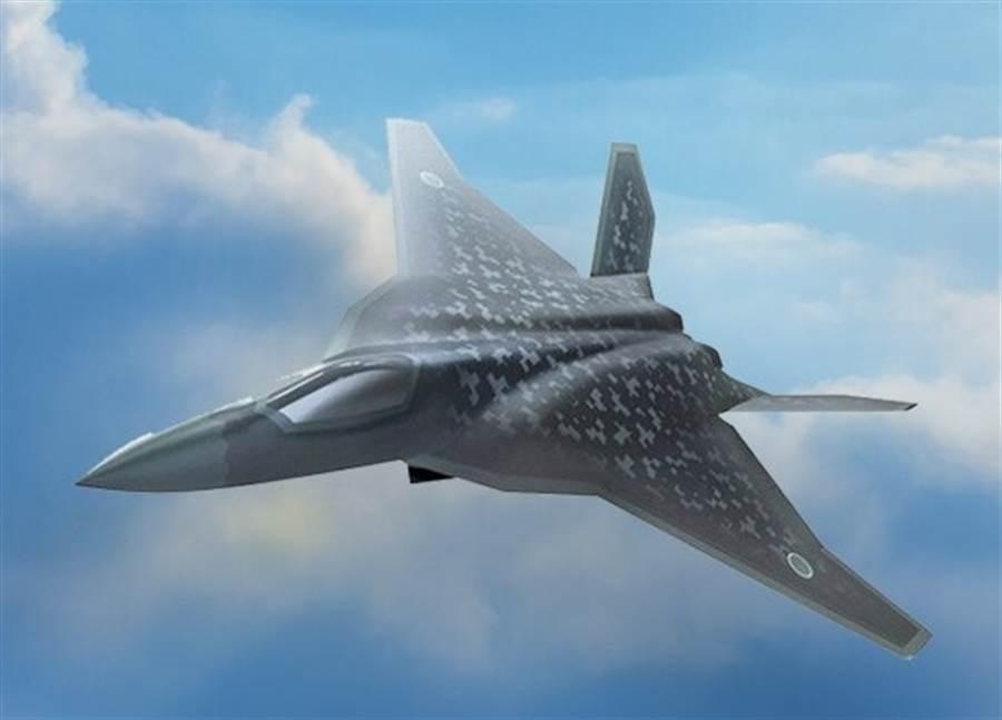 日本F-3超音速戰機的示意圖。(日本防衛省)