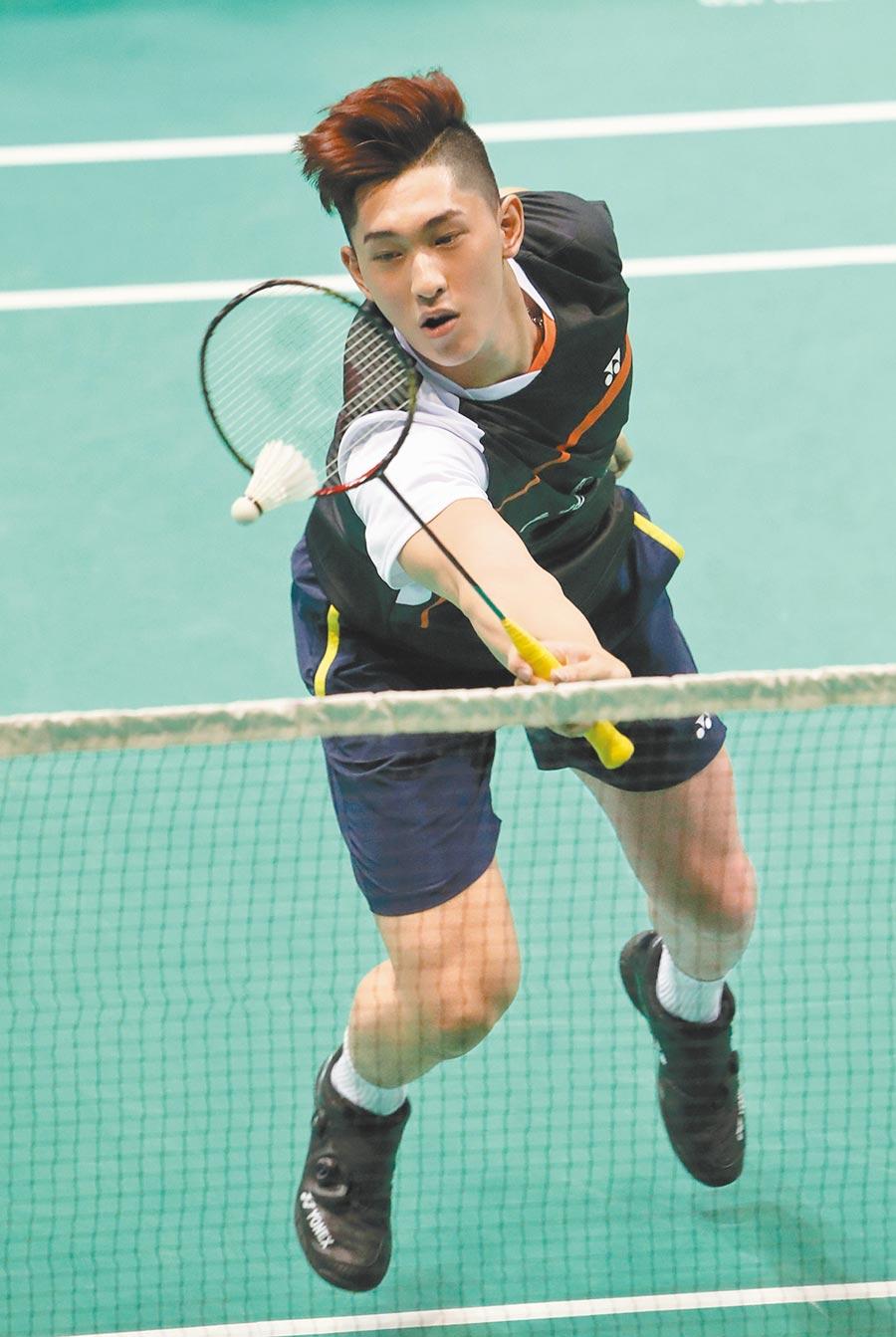 土地銀行好手陳子睿,此次在全國羽球團體錦標賽初登板。(鄭任南攝)
