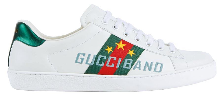 GUCCI Ace系列Band刺繡運動鞋2萬5800元。(GUCCI提供)
