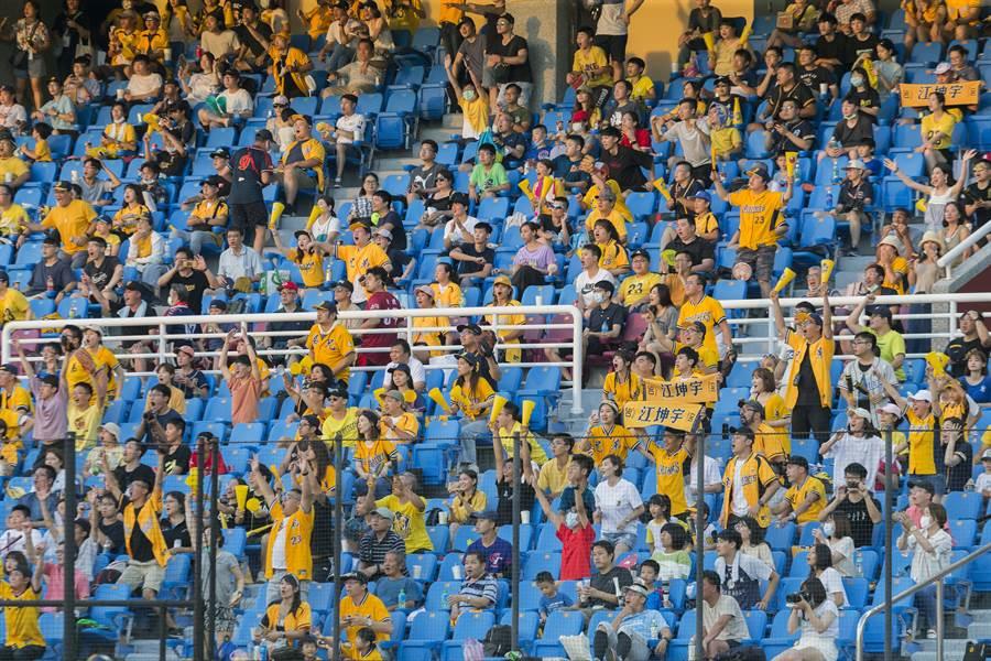 「百萬象迷」出動湧進桃園球場,12日人數10651人刷新紀錄。(資料照/陳麒全攝)