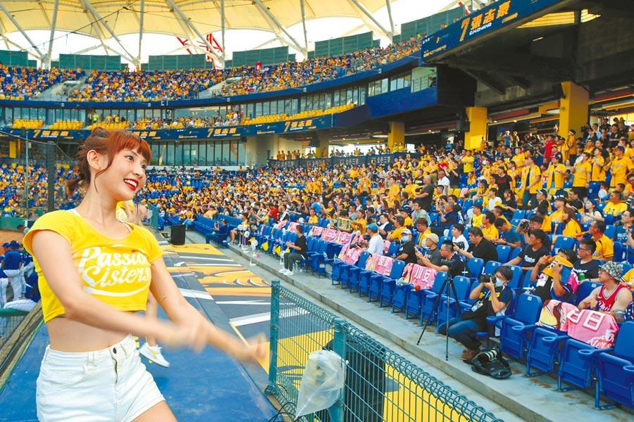 中華職棒11日在洲際球場進行富邦對中信之戰,進場球迷創新高,來到10591人。(黃國峰攝)