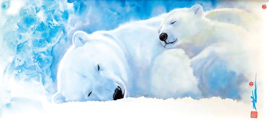 劉漢文,《暖暖》,50×110cm,2018年。圖片提供/劉漢文