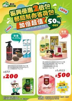 中華郵政7/15推出限量振興優惠2倍包