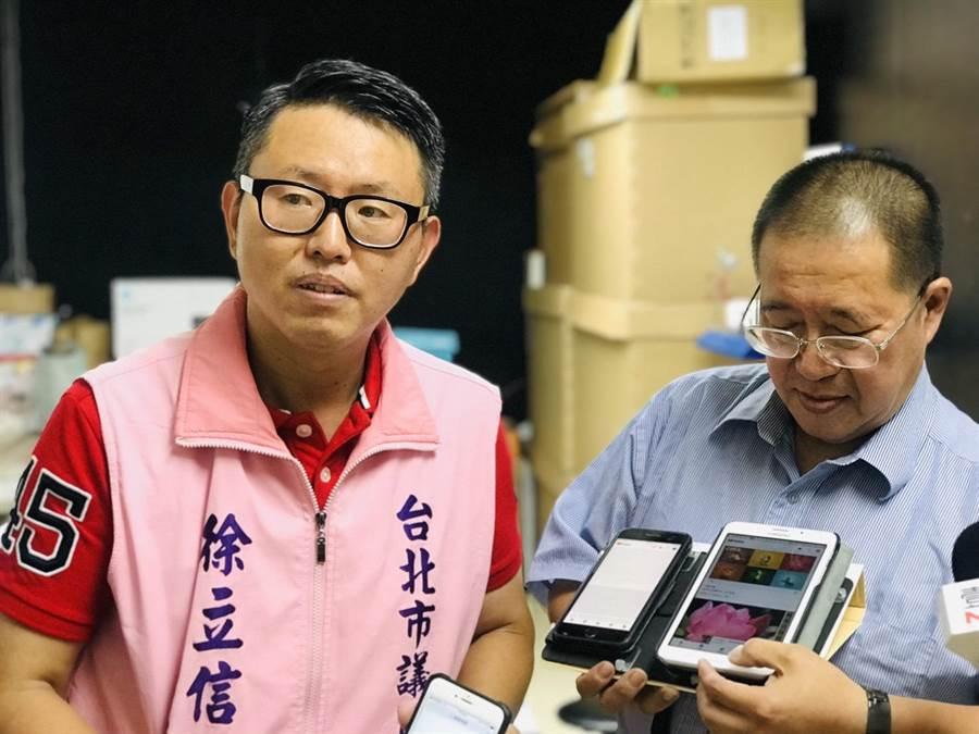 光華商場店家13日在記者會現場展示中華電信上網,幾乎完全跑不動,抱怨此情形已逾10天,中華電信置若罔聞。(張穎齊攝)