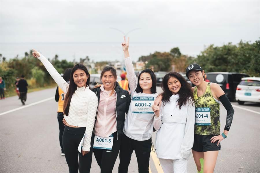 HOOD to COAST越山向海人車接力台灣賽,首創「妳當靠山」全女子專屬報名組別,女孩跳脫框架挑戰自我。(大會提供)