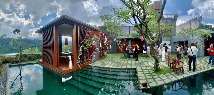 涵碧樓的別墅,可舉辦迷你型的婚筵。(廖志晃攝)