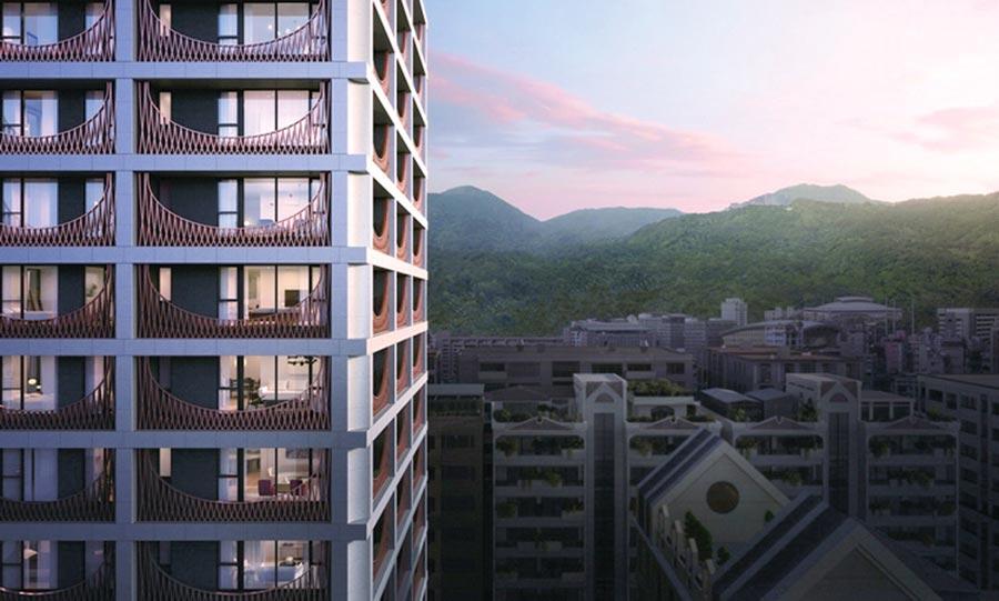 大陸建設首宗天母建築「鐫月」由「如恩設計研究室」全案設計,營造當代詩意。圖/業者提供
