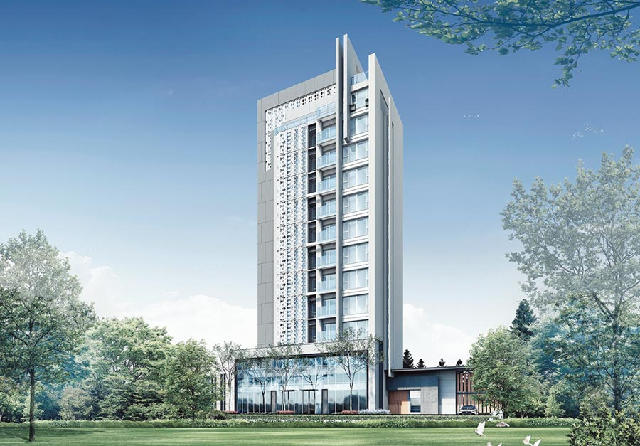 「碧國時雍」是台中頂級輕豪宅。 圖/業者提供