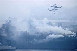 快沒救!狂燒27小時 超過500˚C像煉獄 美F-35兩棲攻擊母艦重創