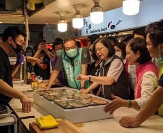 蔡英文產業振興之旅 東港華僑市場大啖在地海鮮