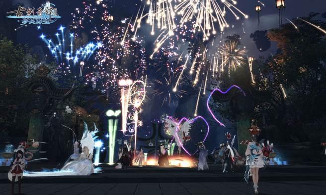 十週年慶步雲洲美麗祝賀煙火(圖/遊戲新幹線提供)