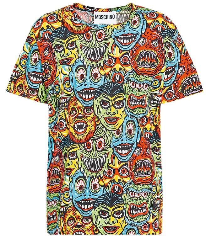 MOSCHINO滿版怪物短袖上衣,1萬3500元。(MOSCHINO提供)