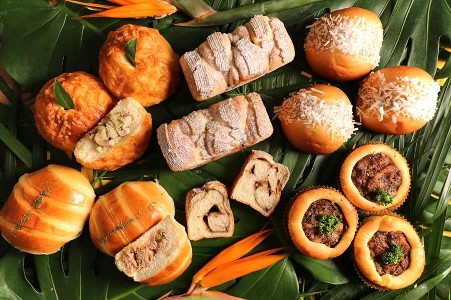 世界麵包冠軍寶吳設計了一系列「南洋風麵包」,參與新加坡國慶活動「獅城「美食總動員」。(圖/吳寶春麵包店)