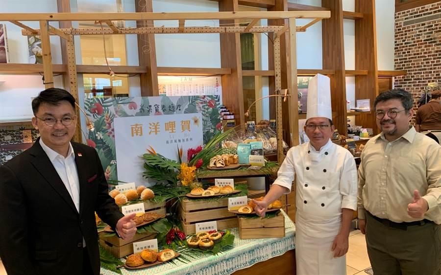 麵包師傅吳寶春(右二)今舉辦新品發表會。(柯宗緯攝)