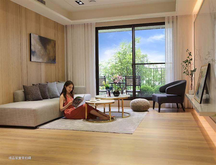 格局規劃為37-45坪的3房,樓層規劃是2棟樓、地上23層住宅大樓,共有264戶。/坤聯發西屯匯提供