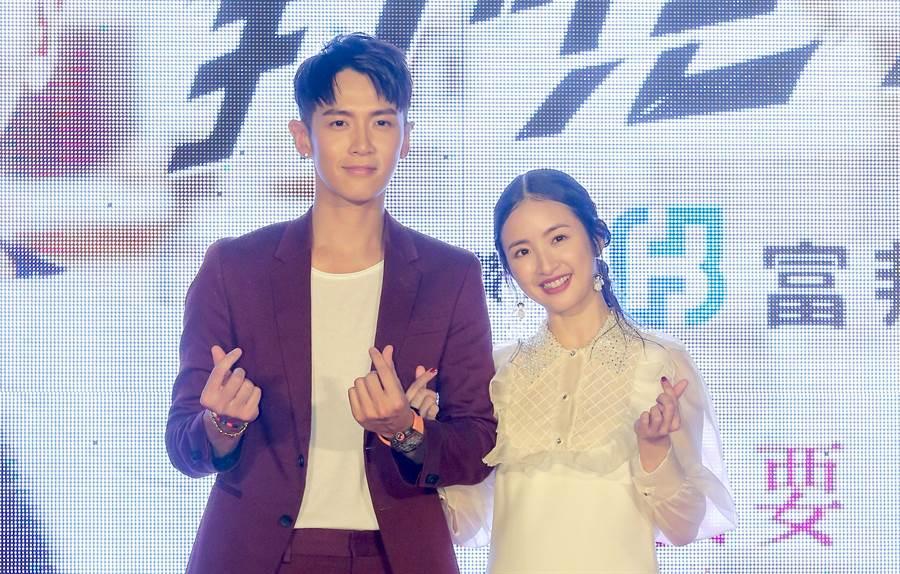 柯震東與林依晨主演電影《打噴嚏》在暑假上映。(盧禕祺攝)