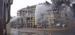 麥寮六輕煉製廠區起火 台塑化:胺液吸收區異常釀災