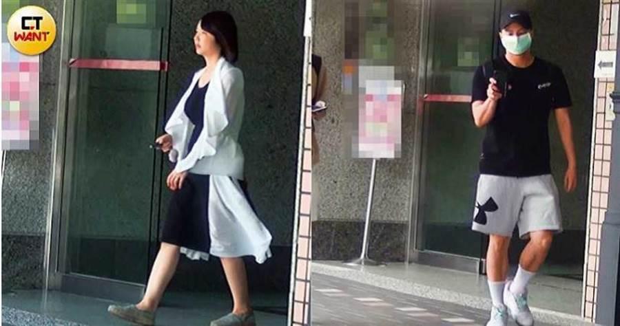 隔天中午,小煜新歡換上另一套衣服外出,小煜則是約3小時後,才戴著口罩出家門。(圖/本刊攝影組)