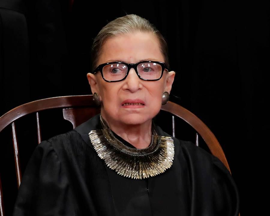 美國最高法院大法官露絲·拜德·金斯伯格。(路透社圖)