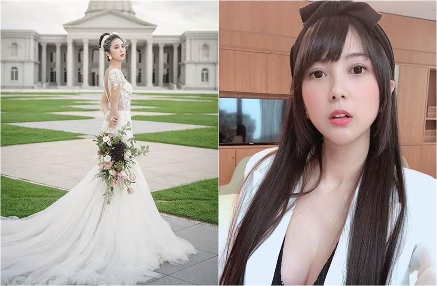 Mini去年嫁給廣達集團林百里的二公子林宇輝,現已升格當人妻。(圖/取材自林米尼mini臉書)