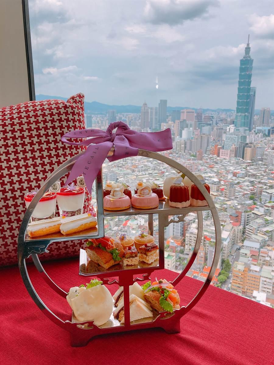 馬可波羅酒廊與香緹卡首度跨界合作,期間限定推出「鑽石級週末午茶約會」。(圖/邱映慈攝影)
