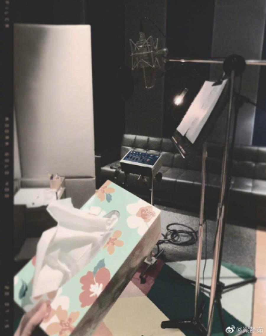 梁靜茹10年婚姻結束後6度入圍金曲,她在微博感性喊話,更透露自己在錄音室哭了。(圖/ 摘自梁靜茹微博)