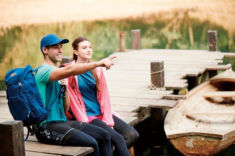 戶外旅遊好時機,歐都納是您的好夥伴,讓夏天涼感衣冰降2℃冰鎮你。圖/歐都納提供
