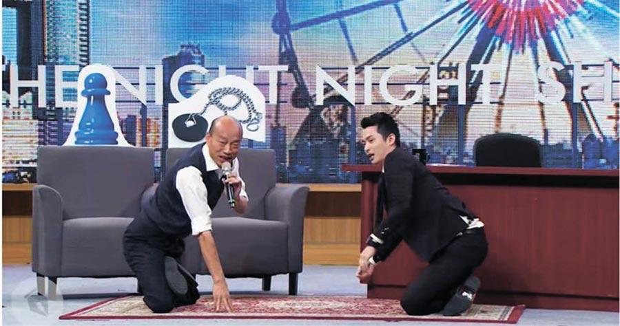 蔡、韓在總統大選中上網紅節目「博恩夜夜秀」,竟有支付經費,且價碼還差很大。(圖/翻攝自博恩夜夜秀YouTube頻道)