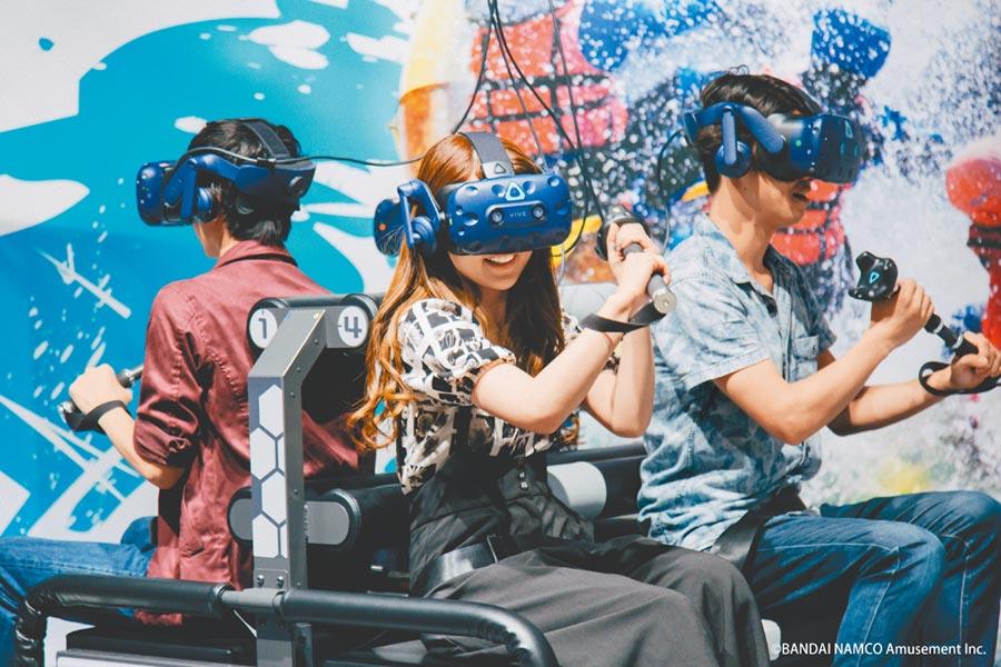 宏匯廣場與南夢宮獨家合作「VR ZONE NEW TAIPEI」,提供沉浸式的虛擬實境娛樂體驗。(宏匯廣場提供)