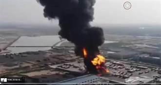 影/油罐車爆炸!烈火濃煙「直衝天際」民眾衣服整件炸光 網譏定時炸彈