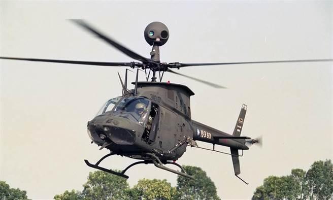 圖為OH─58D戰搜直升機。(中時資料照 蘇俊郎攝)