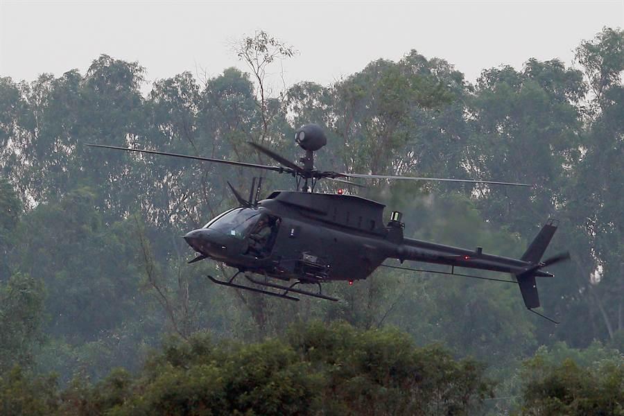 OH-58D戰搜直升機。(資料製片,陳麒全攝)
