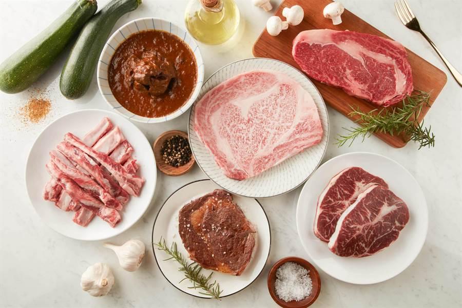 乾杯集團首度打造自有電商平台「乾杯超市」,匯集多款頂級肉品食材,即日起線上開賣。(乾杯集團提供)