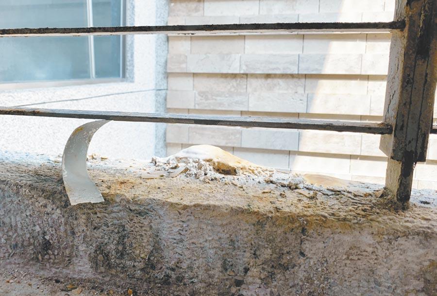 台中市政公園地下停車場到處積水,還出現「滴水鐘乳石」奇景。(市議員江肇國服務處提供/陳世宗台中傳真)