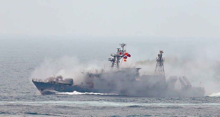 國軍錦江級巡邏艦「昌江艦」。(本報系資料照片)