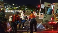 男子在監察院旁天橋淋汽油自焚  搶救1天傷重不治