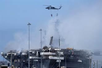 惡火焚身超過4天 美F-35迷你航母火終於滅了 汰換要1200億
