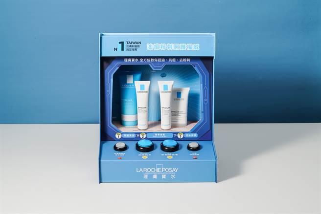 全方位油痘粉刺照護禮盒內含深層控油泡沫洗面乳、淨透煥膚極效精華K+、淨痘無瑕極效精華DUO+、毛孔緊緻控油保濕乳,皆為正貨包裝。(圖/品牌提供)