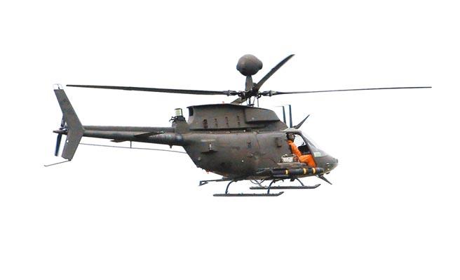 OH-58D戰搜直升機同型機,非出事直升機。(姚志平攝)