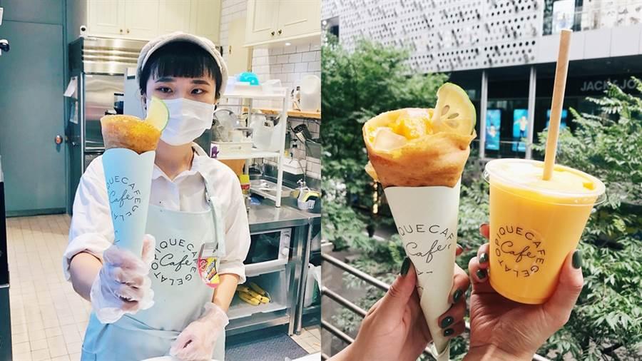 可麗餅專賣店gelato pique café推出仲夏夢幻甜點組合。(圖/邱映慈攝影)