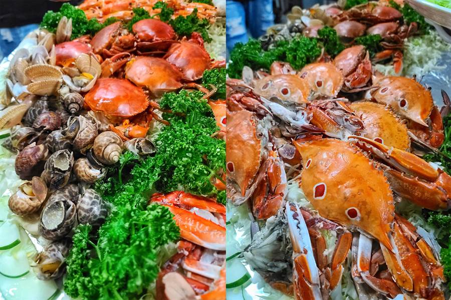 滿滿一桌的超豪華海鮮大餐十分澎派。(圖/U米提供,未經授權請勿擅自取用)