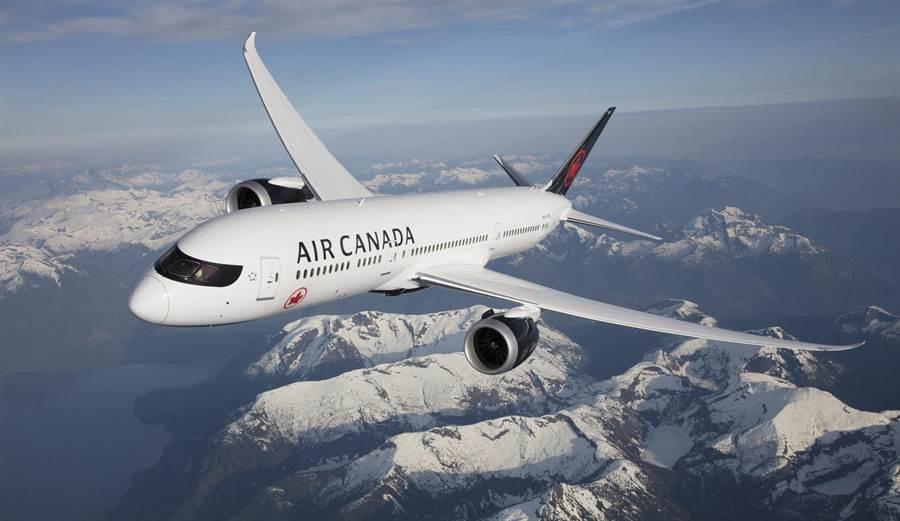 加拿大航空將於2021年3月28日恢復台北-溫哥華航班。(加拿大航空提供/陳祐誠傳真)