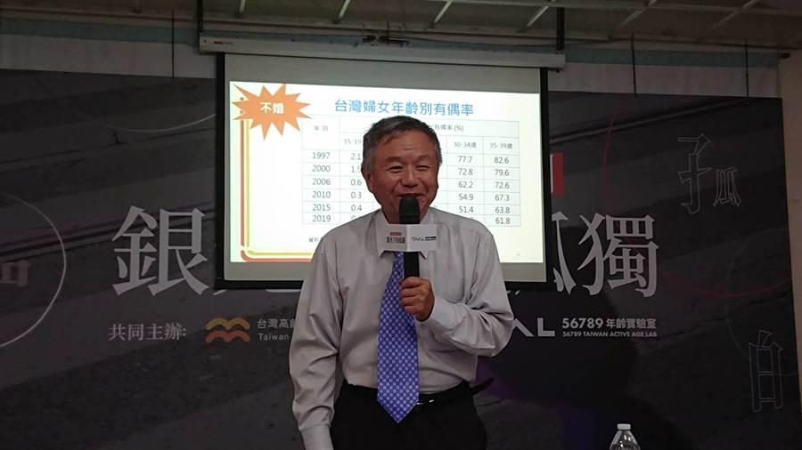 高發會創會理事長楊志良表示,新冠疫情影響的時間不是3、5個月或1年,未來人們勢必與病毒長期共存。(林周義攝)