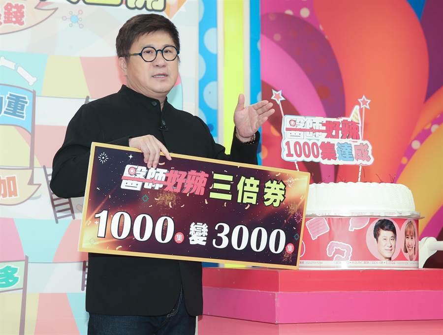 胡瓜今錄東森《醫師好辣》1000集特別企劃。(粘耿豪攝)